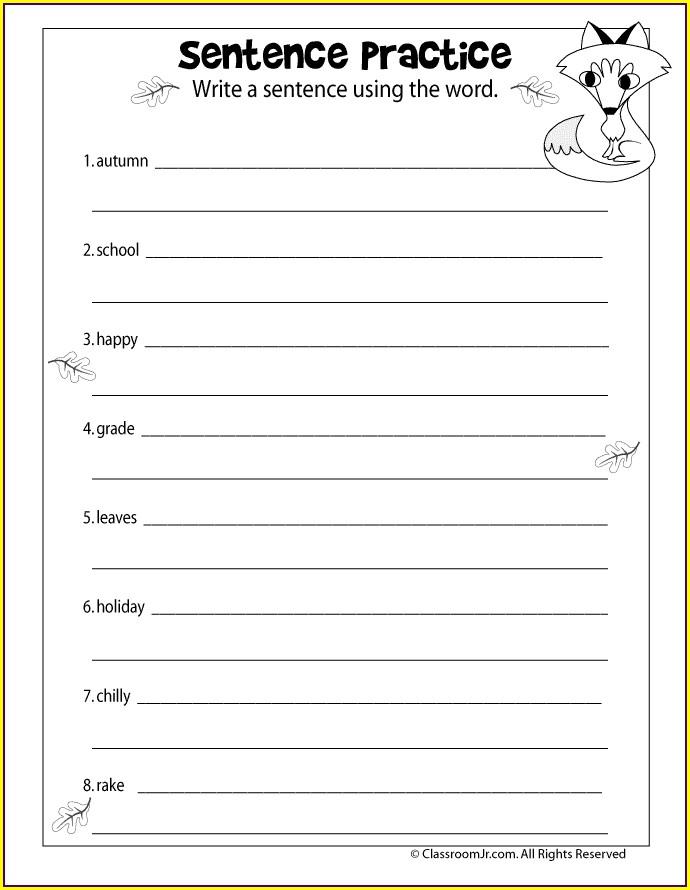 3rd Grade Worksheets Writing