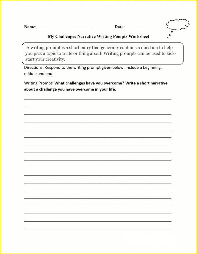 3rd Grade Writing Prompts Worksheets