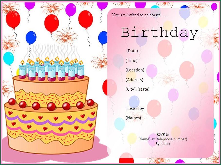 40th Birthday Invitation Card Ideas