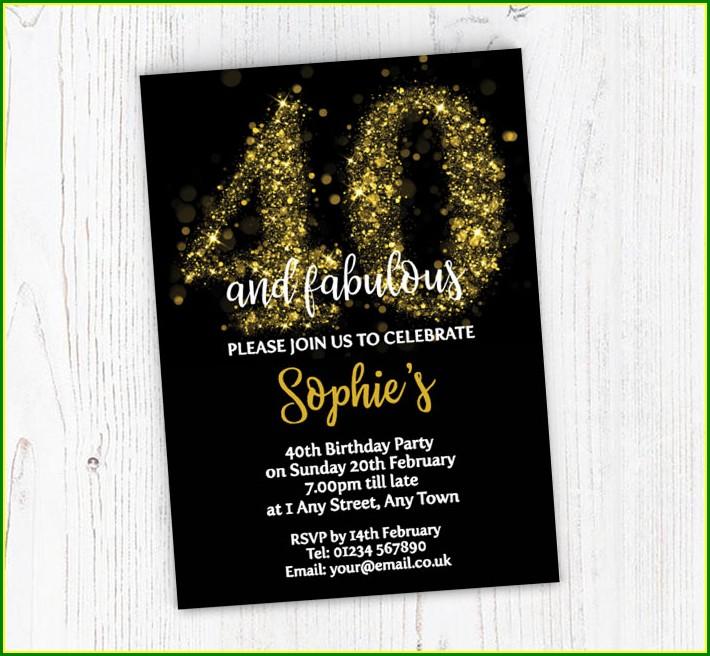 40th Birthday Invitations Online