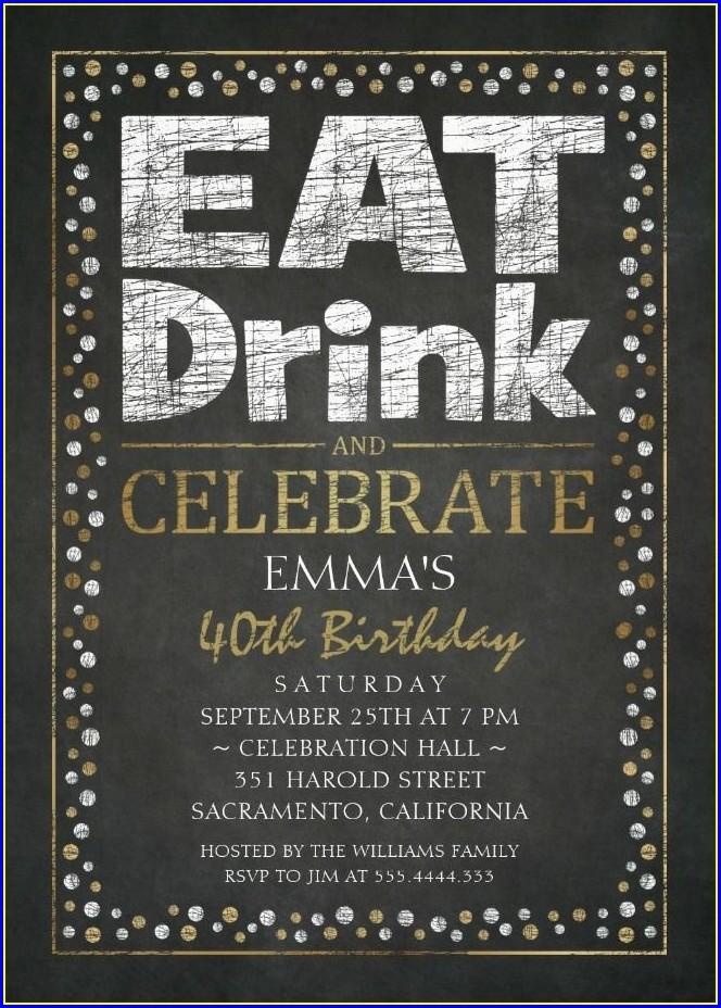 40th Birthday Invite Templates