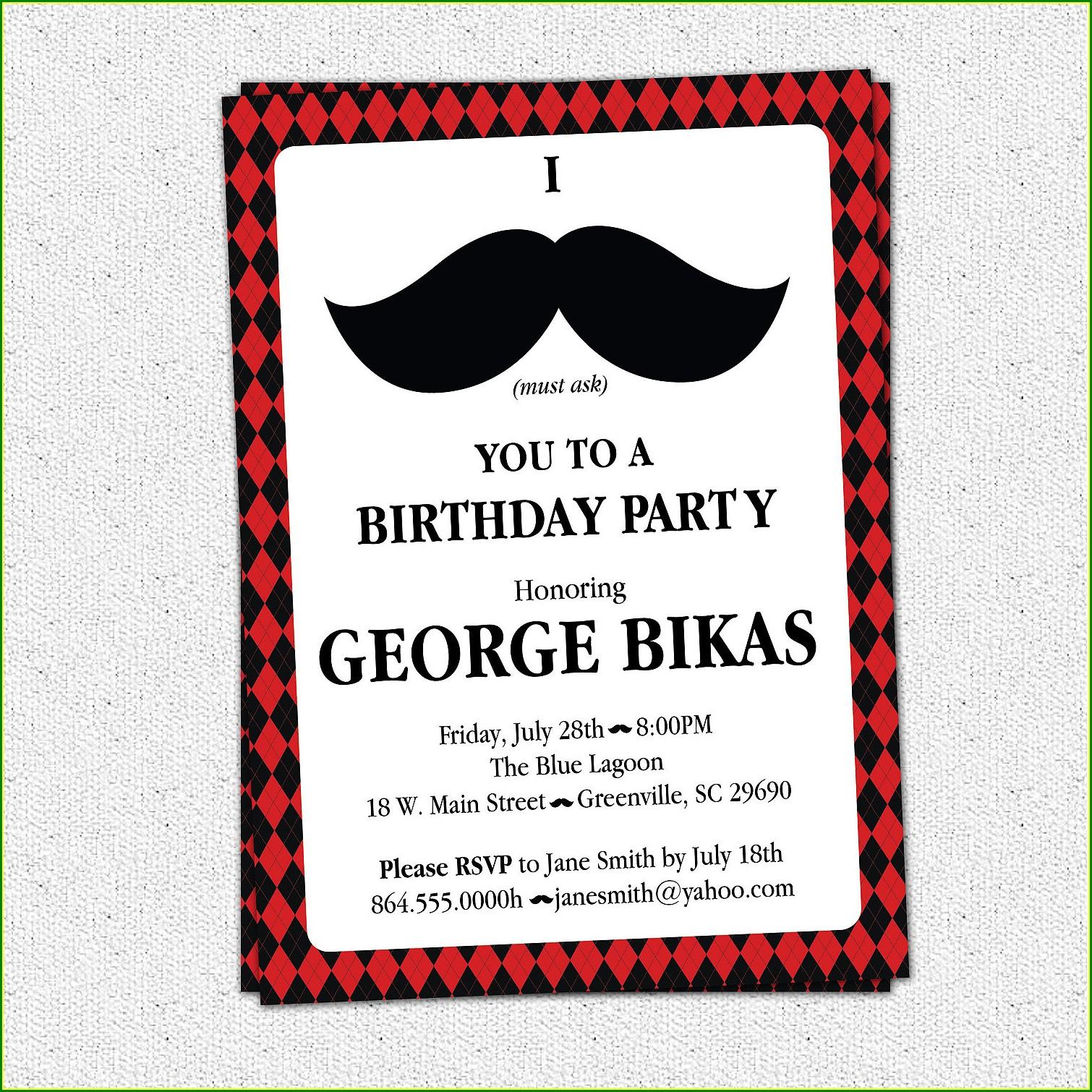 40th Birthday Invite Wording For Him