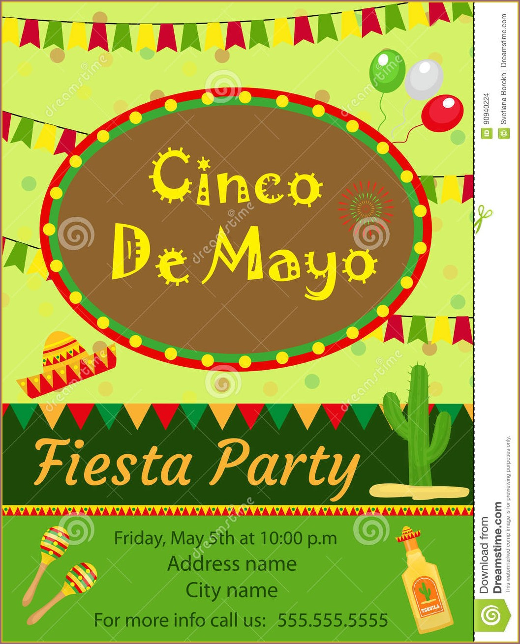 5 De Mayo Invitation Template