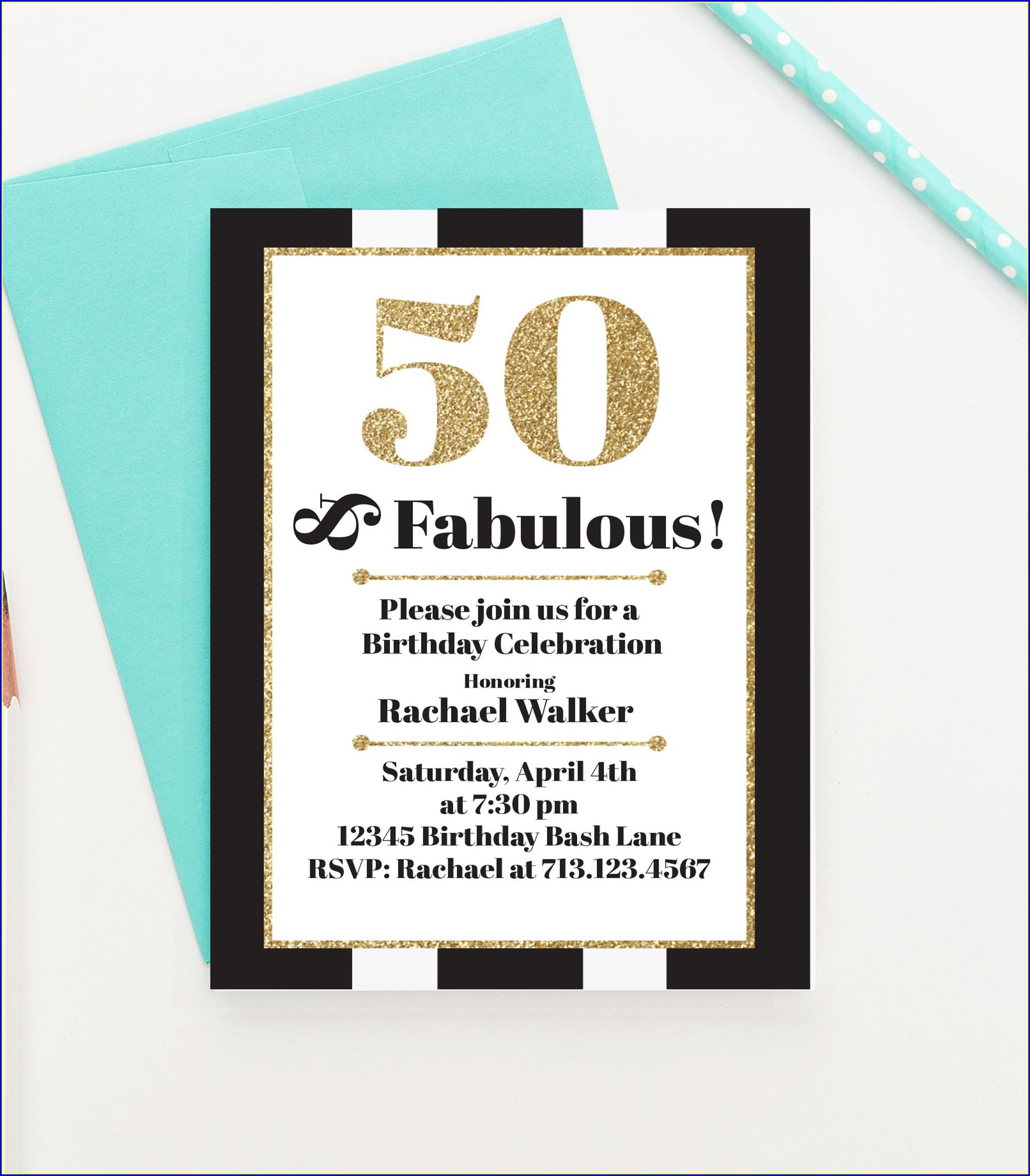 50 And Fabulous Invitations