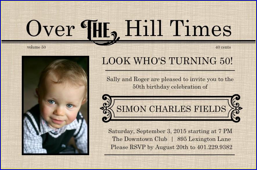 50th Birthday Invitation Wording Funny