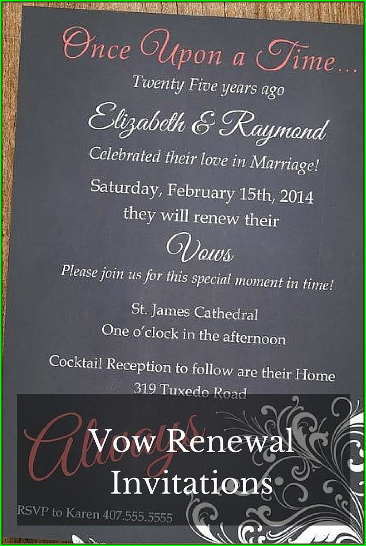 50th Wedding Anniversary Renewal Vows Invitations