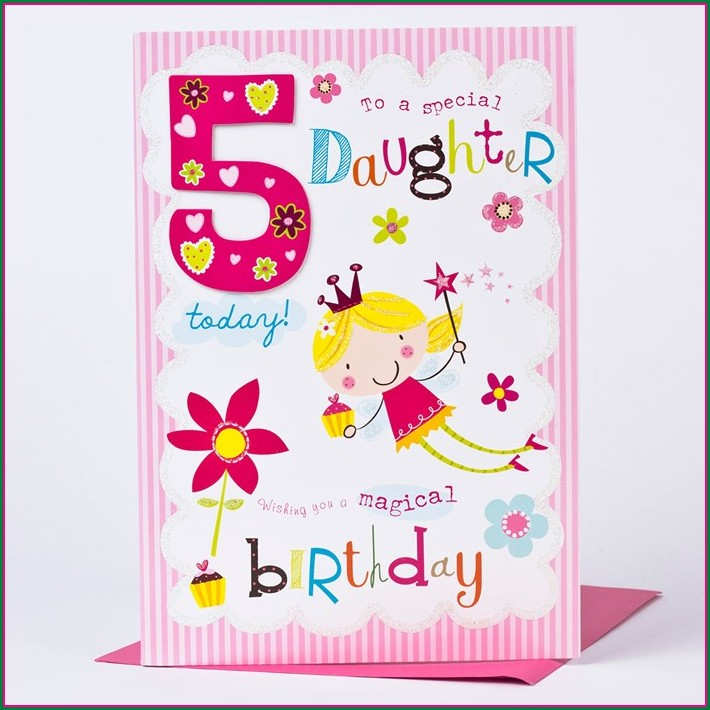 5th Birthday Invitation Message For Daughter
