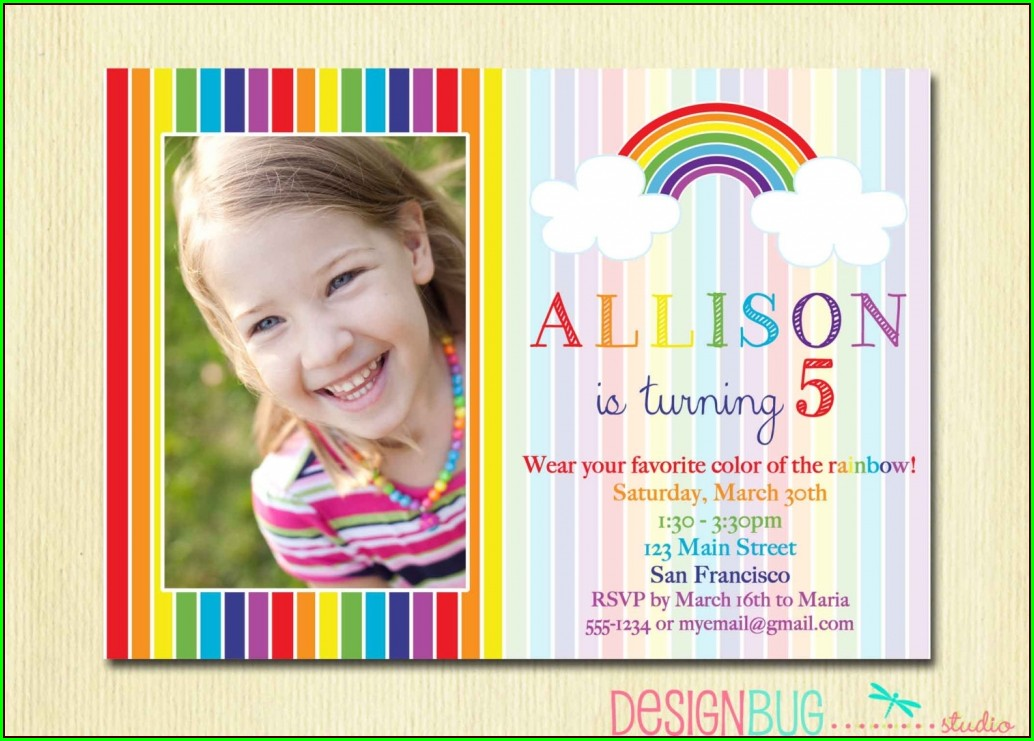 5th Birthday Invitation Templates