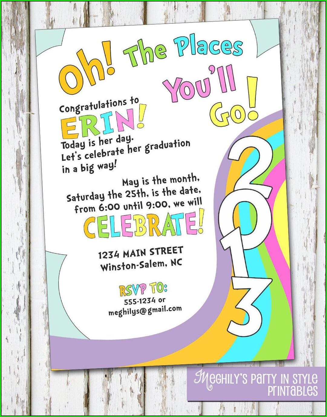 5th Grade Graduation Invitation Template
