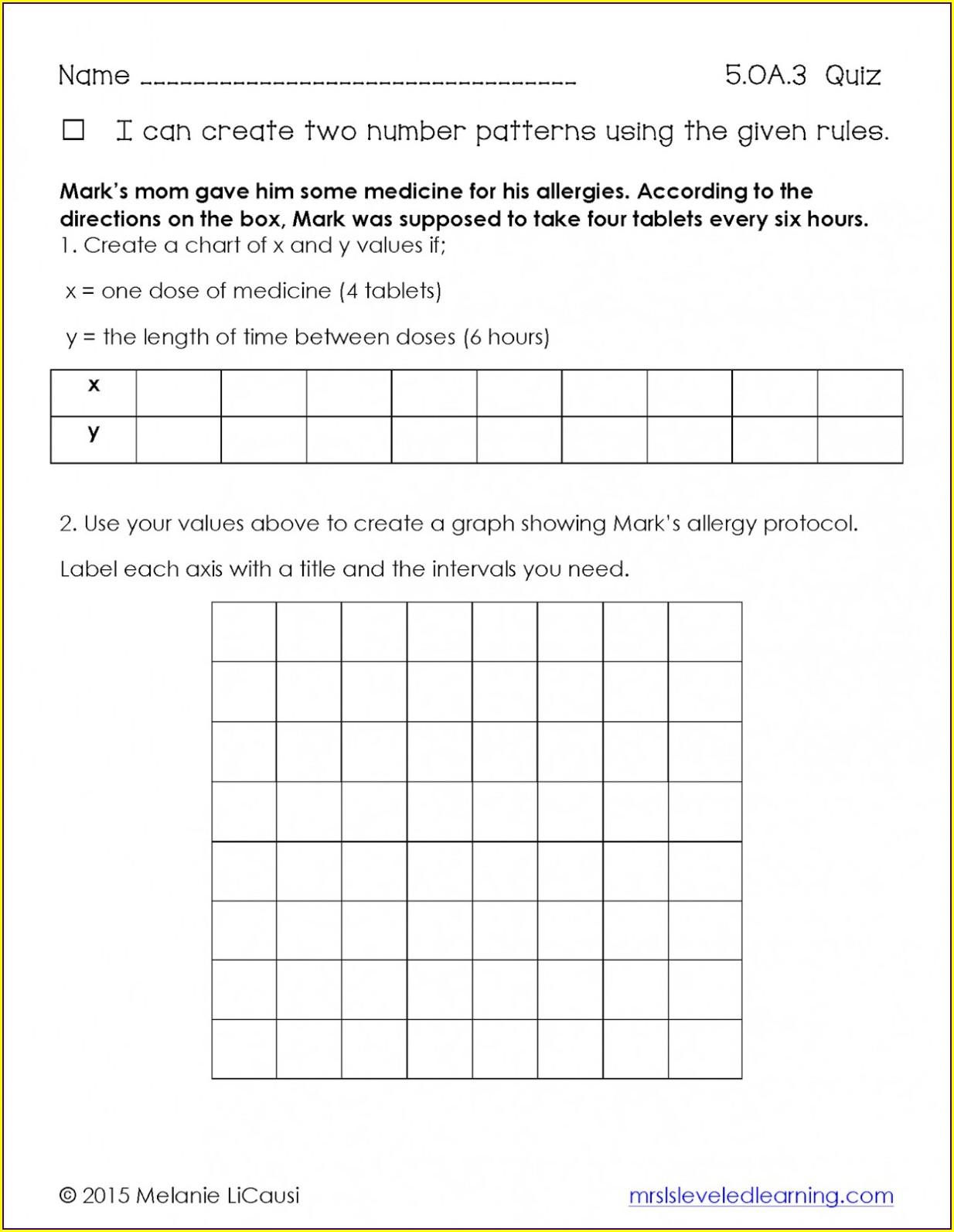 5th Grade Math Order Of Operations Worksheet