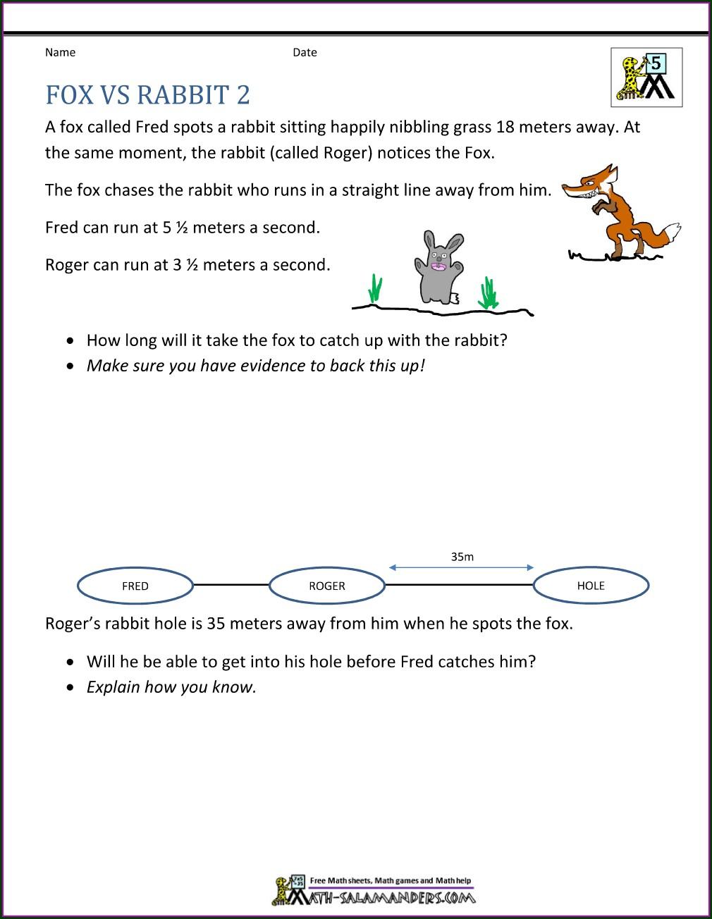 5th Grader Grade 5 Math Word Problems Worksheet