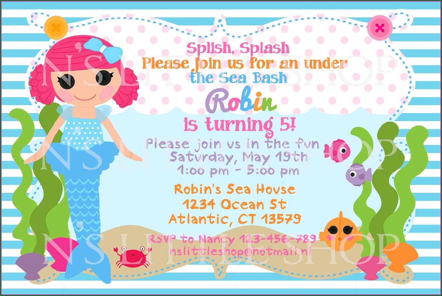 5th Year Birthday Invitation Message