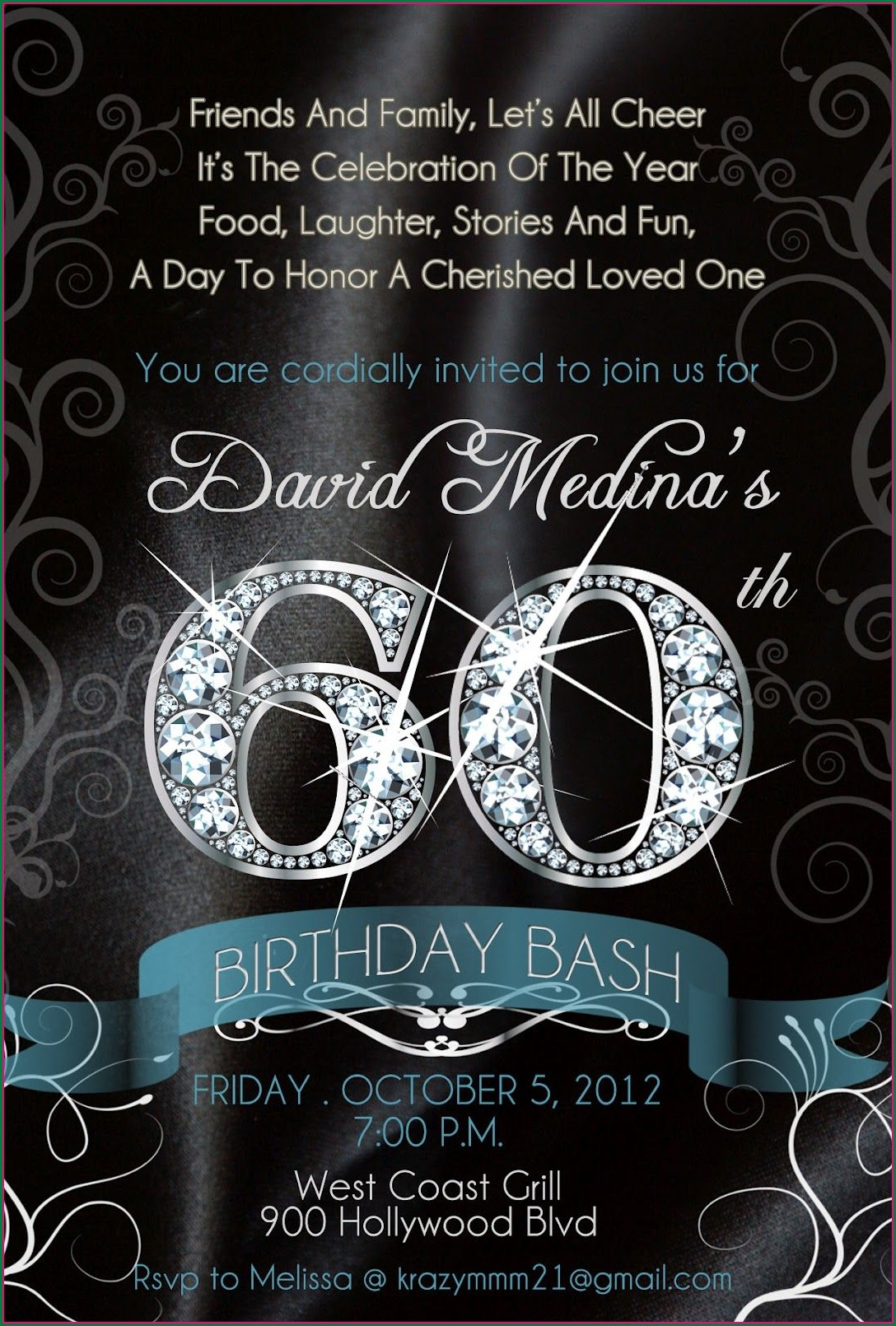 60th Birthday Invitation Templates Free Download