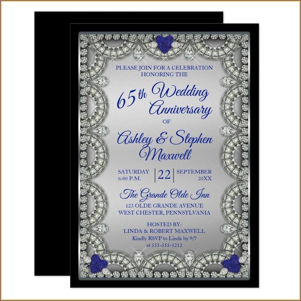 65th Wedding Anniversary Invitations
