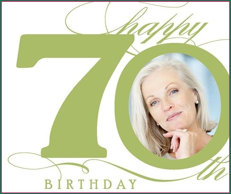 70th Birthday Invitation Background Templates
