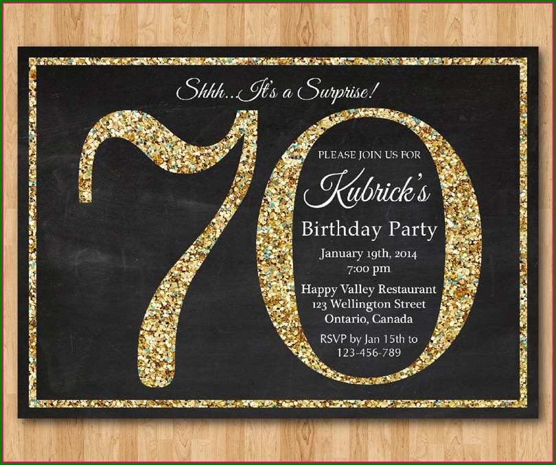 70th Birthday Invitation Cards Designs