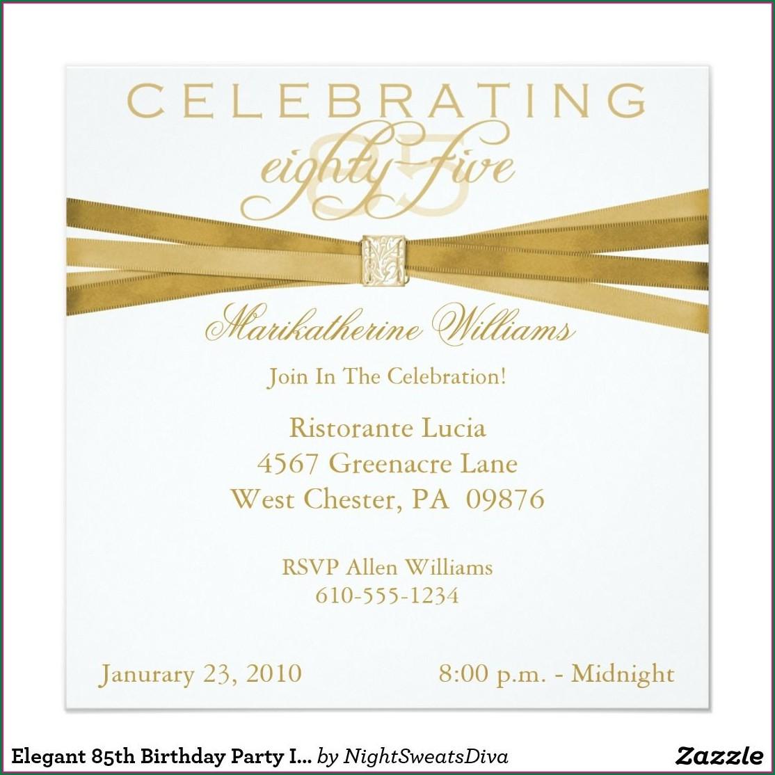 85th Birthday Invitation Template Free