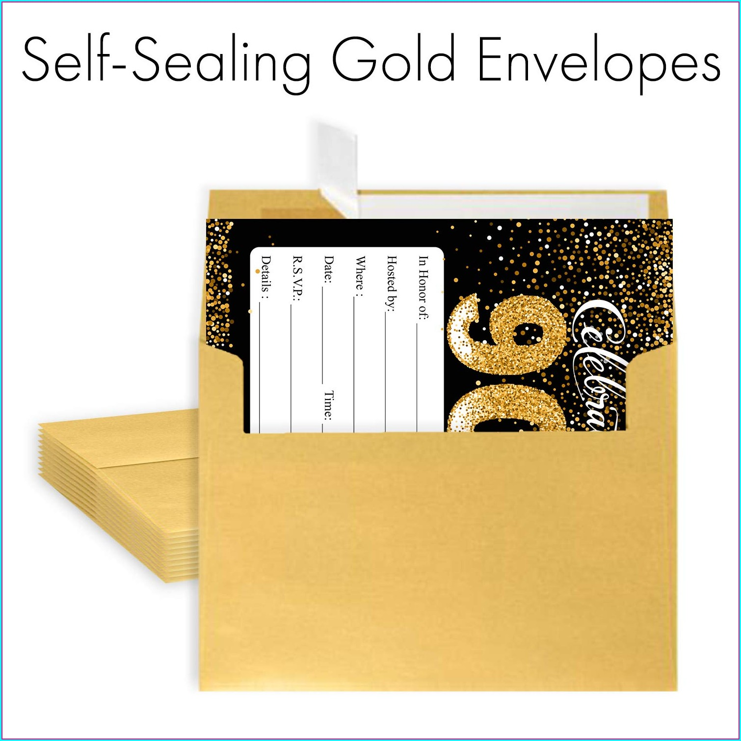 90th Birthday Invitations With Envelopes