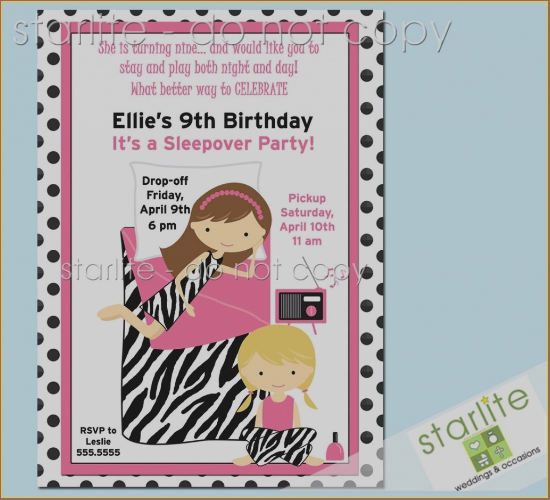 9th Birthday Invitation Message