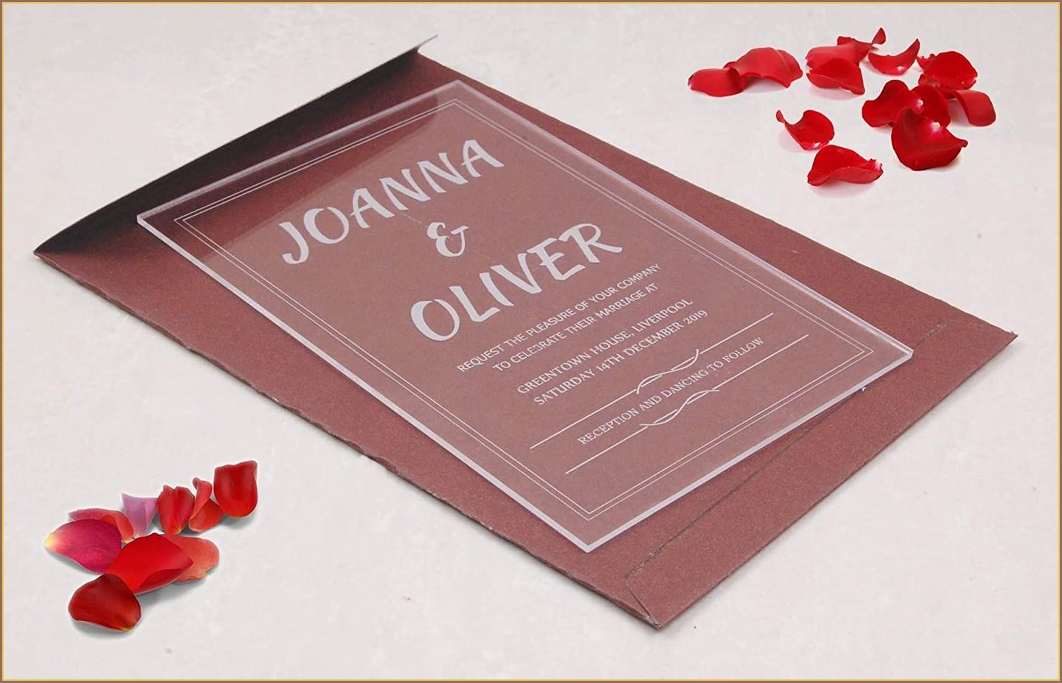 Acrylic Glass Wedding Invitations