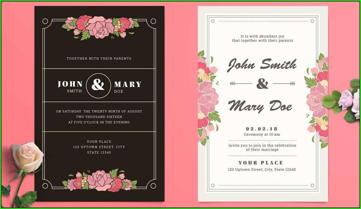 Adobe Illustrator Wedding Invitation Template