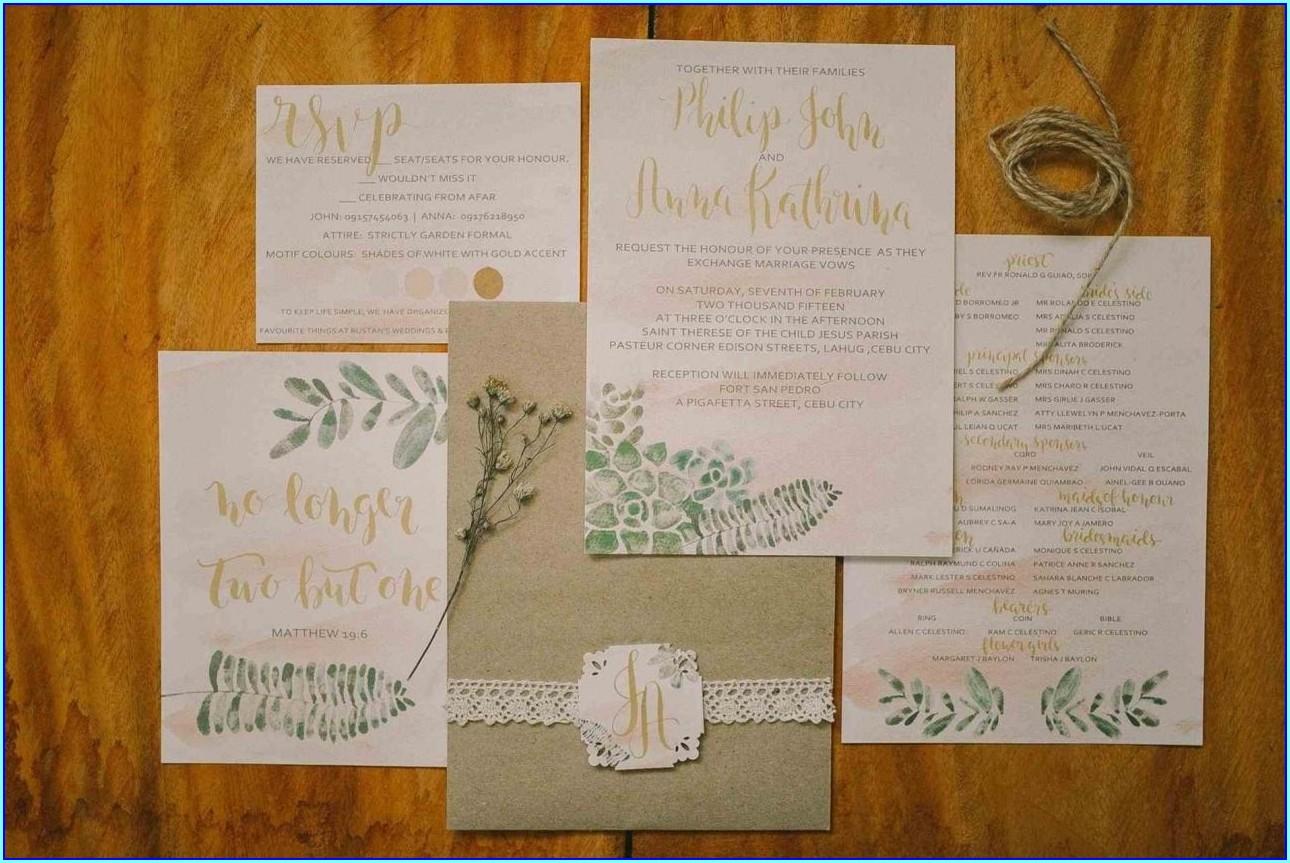 Affordable Wedding Invitation Suites