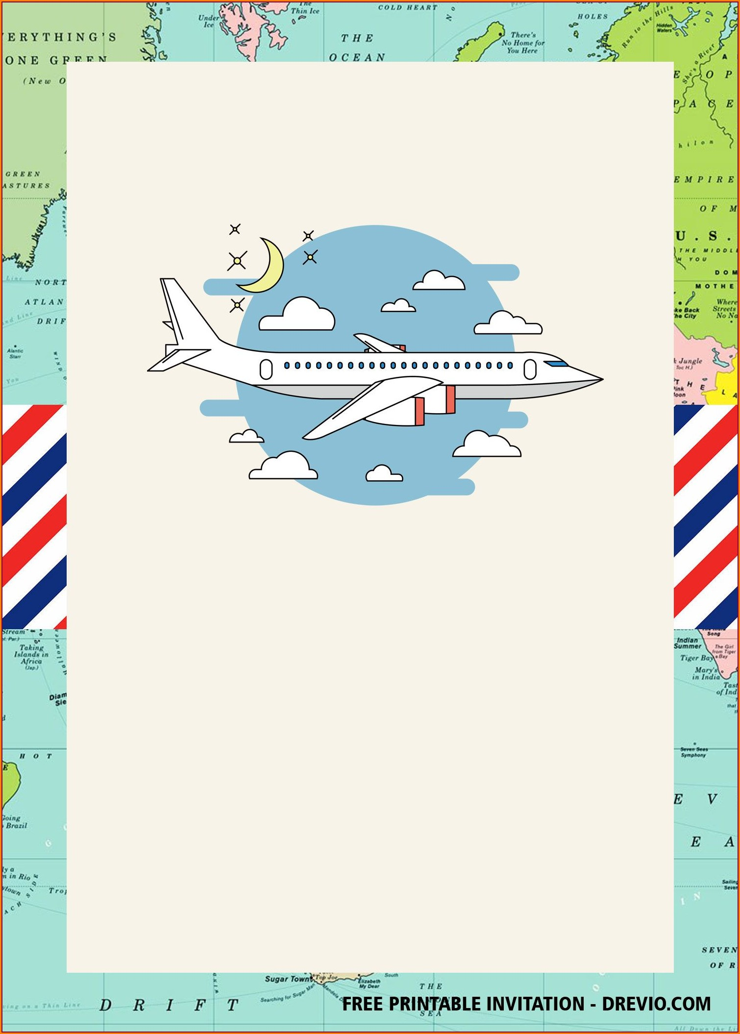 Airplane Birthday Invitations Free