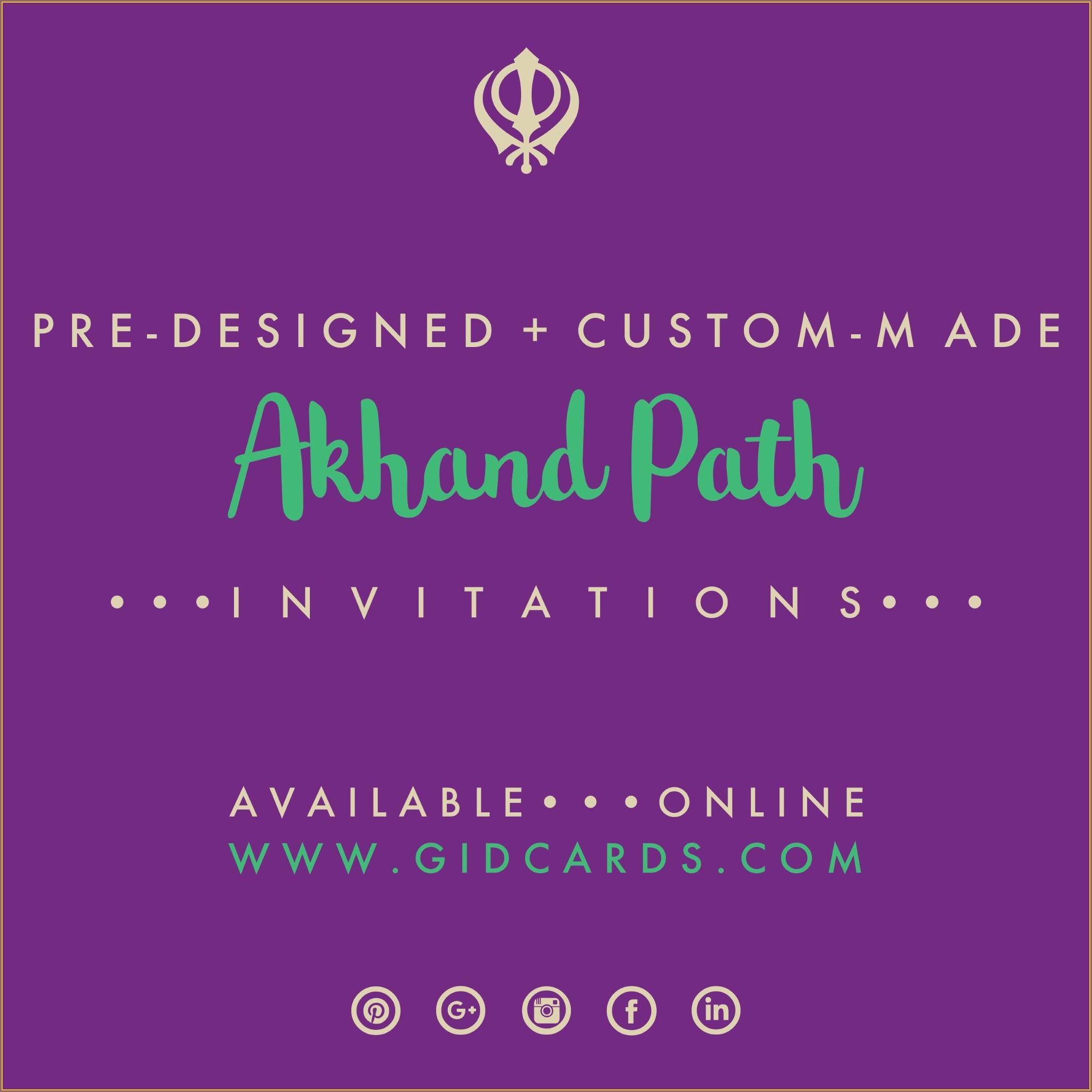 Akhand Path Invitation Sms