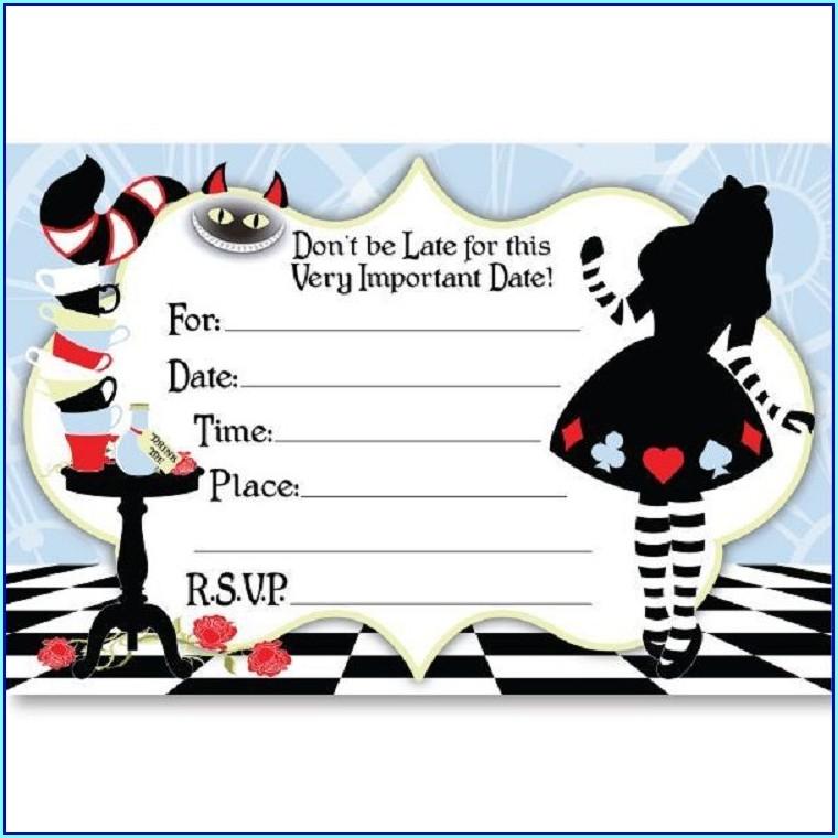 Alice In Wonderland Invitations Free