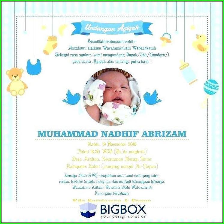 Aqiqah Invitation Card Free Download