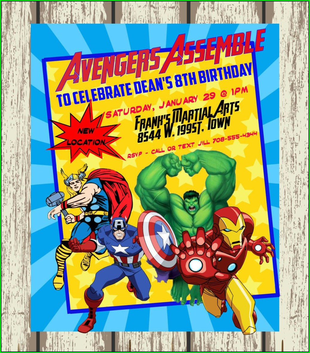 Avengers Birthday Invitations Printable
