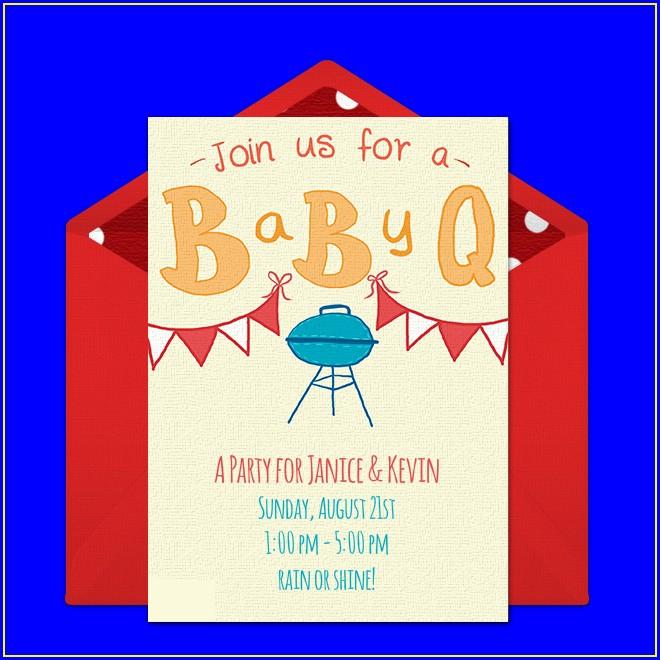 Baby Bbq Invitations Free