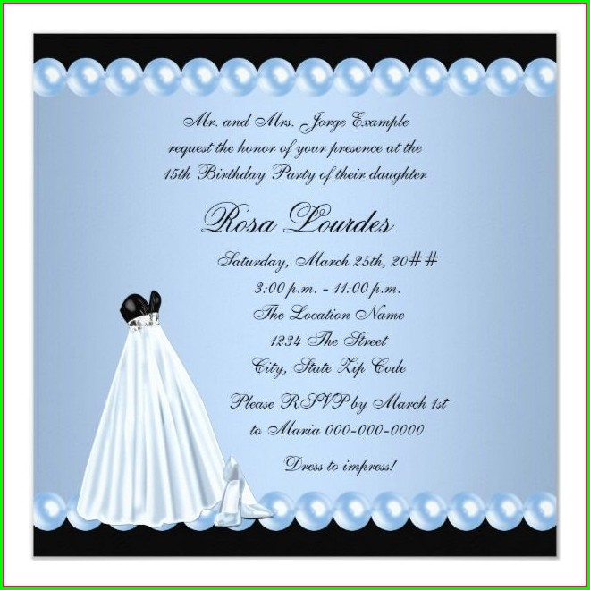 Baby Blue Quinceanera Invitations