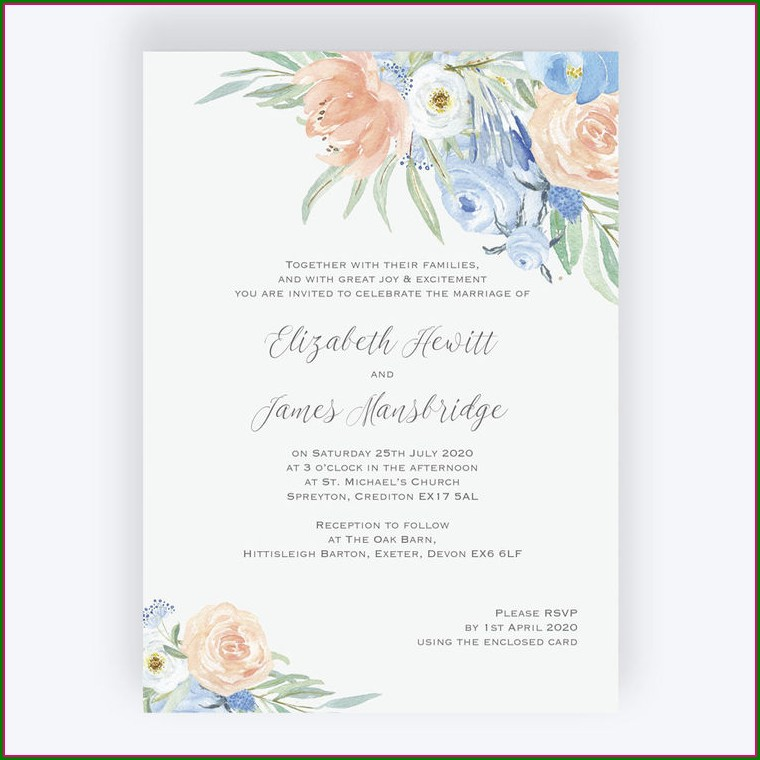 Baby Blue Wedding Invitations Uk