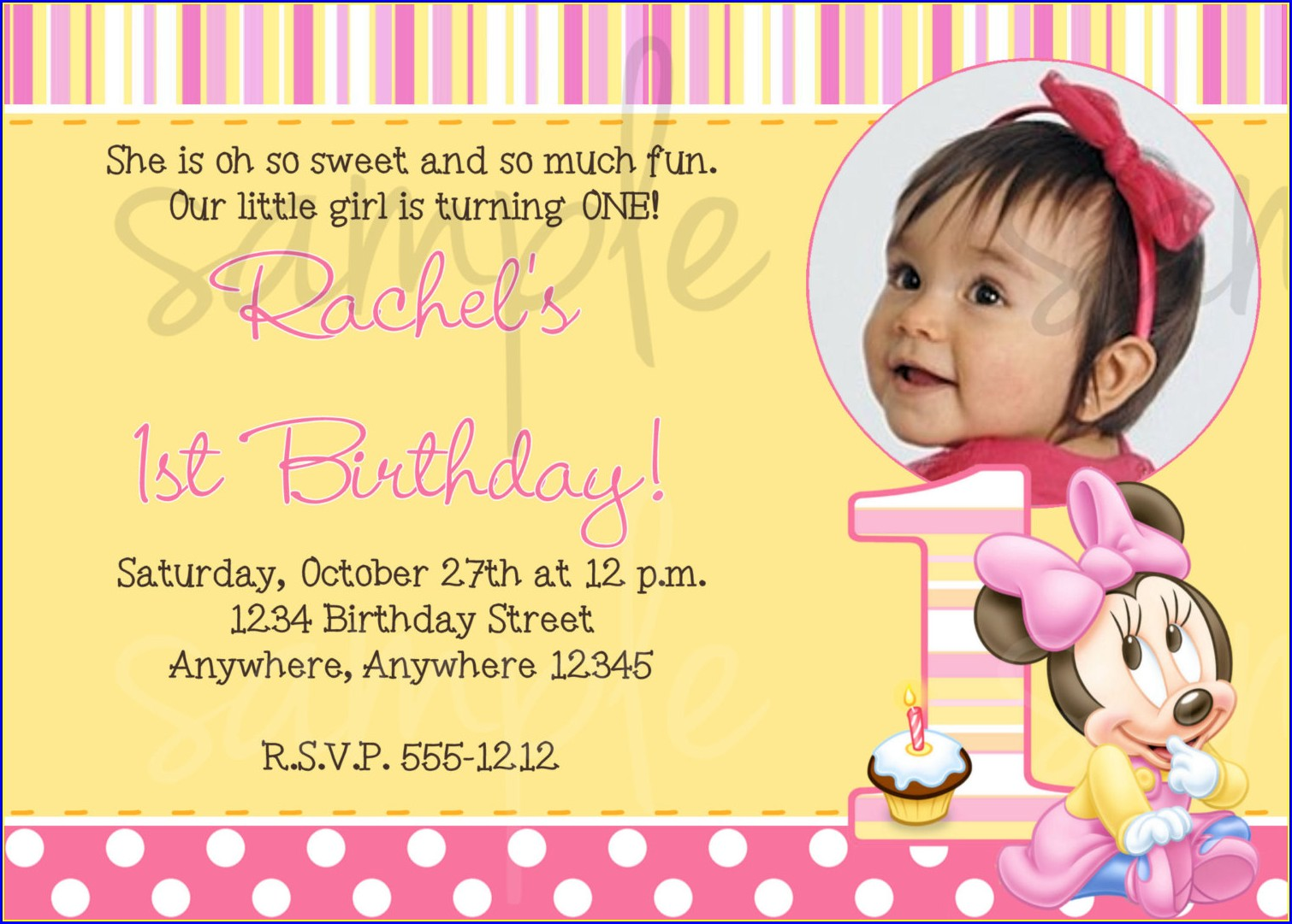 Baby Boy 1st Birthday Invitation Message