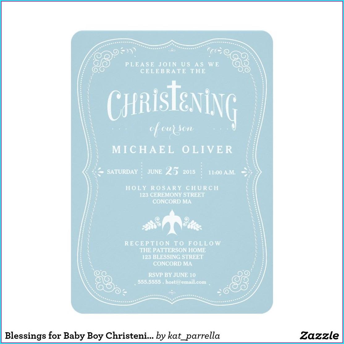 Baby Boy Invitations For Christening