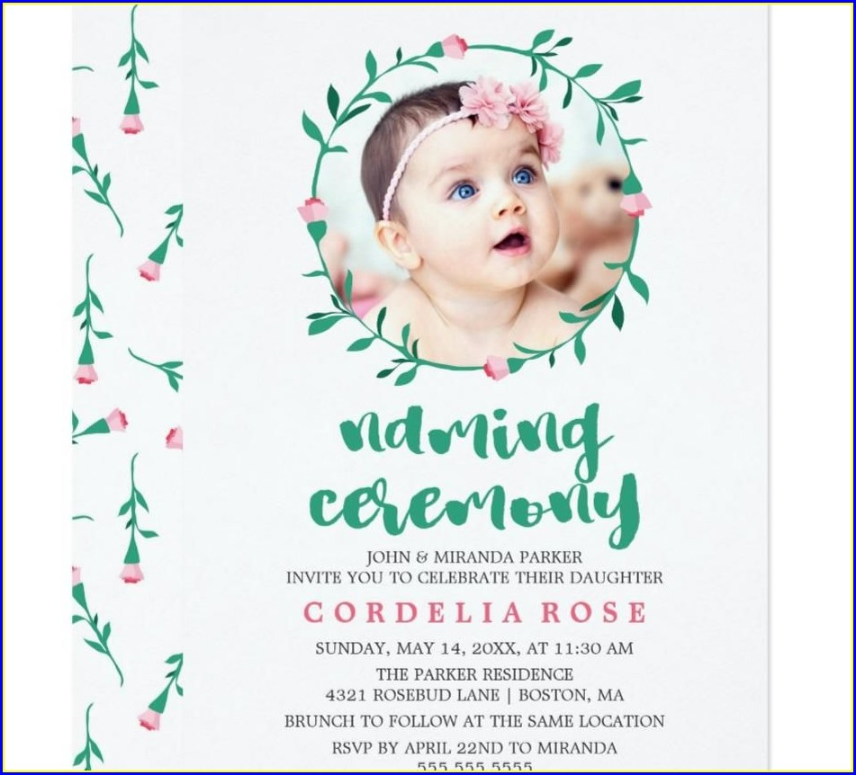 Baby Boy Naming Ceremony Invitation Card Background