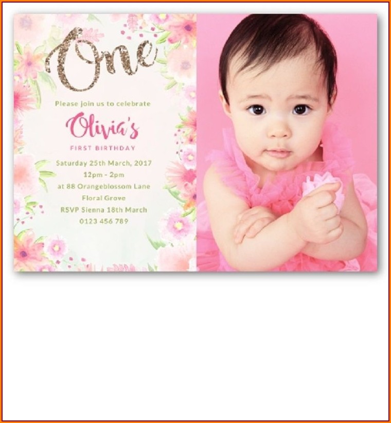 Baby First Birthday Invitation Card Online