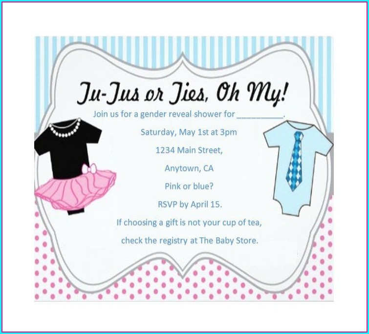 Baby Gender Reveal Invitations Free