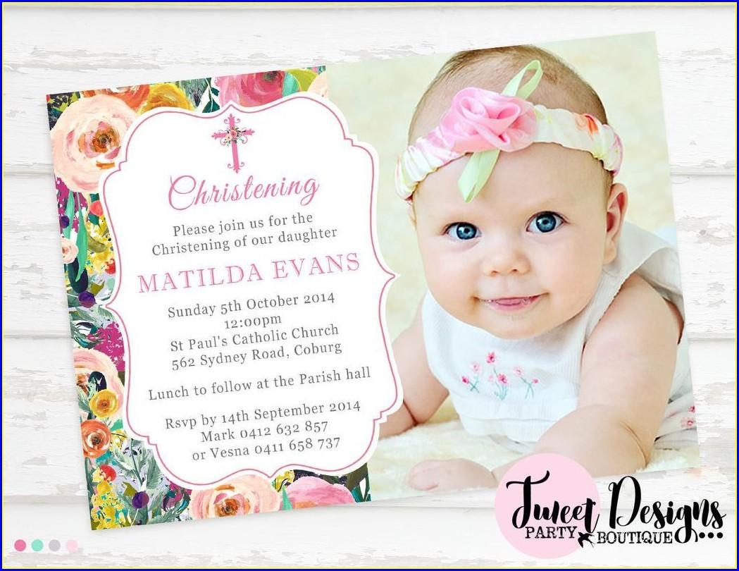 Baby Girl Daughter Birthday Invitation Message