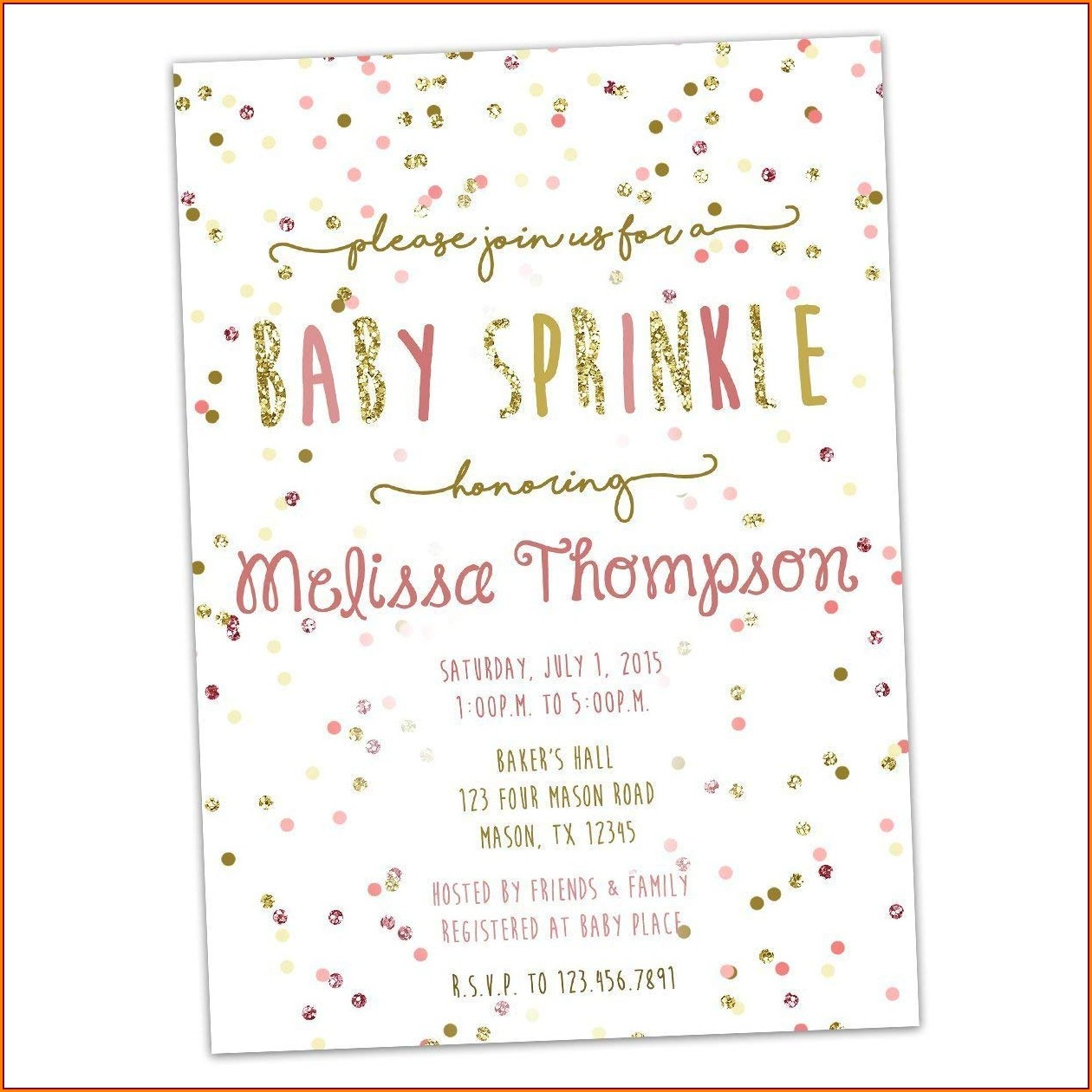 Baby Girl Sprinkle Invitations