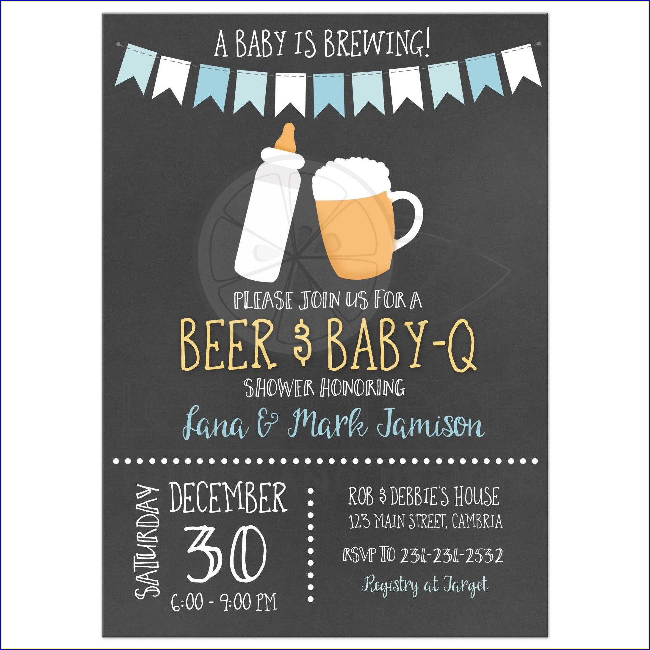Baby Is Brewing Invitations