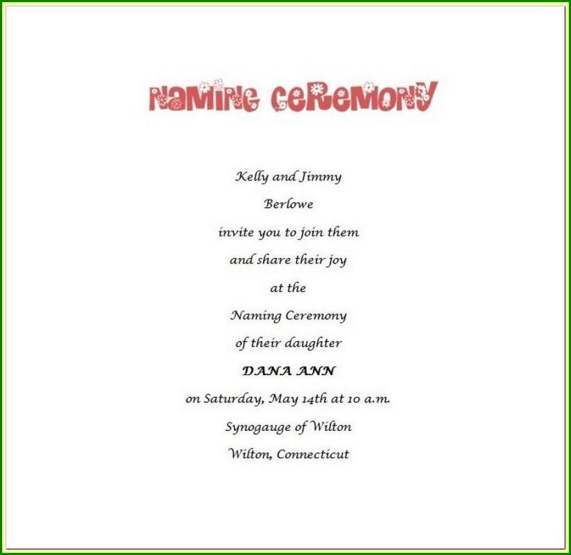 Baby Naming Ceremony Invitation In Kannada