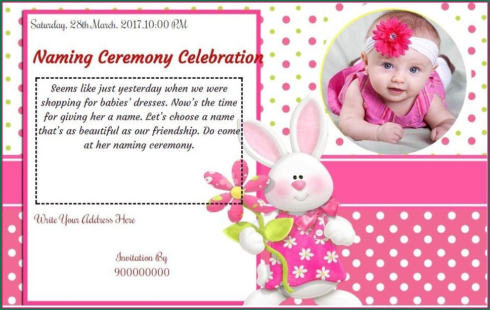 Baby Naming Ceremony Invitation Message