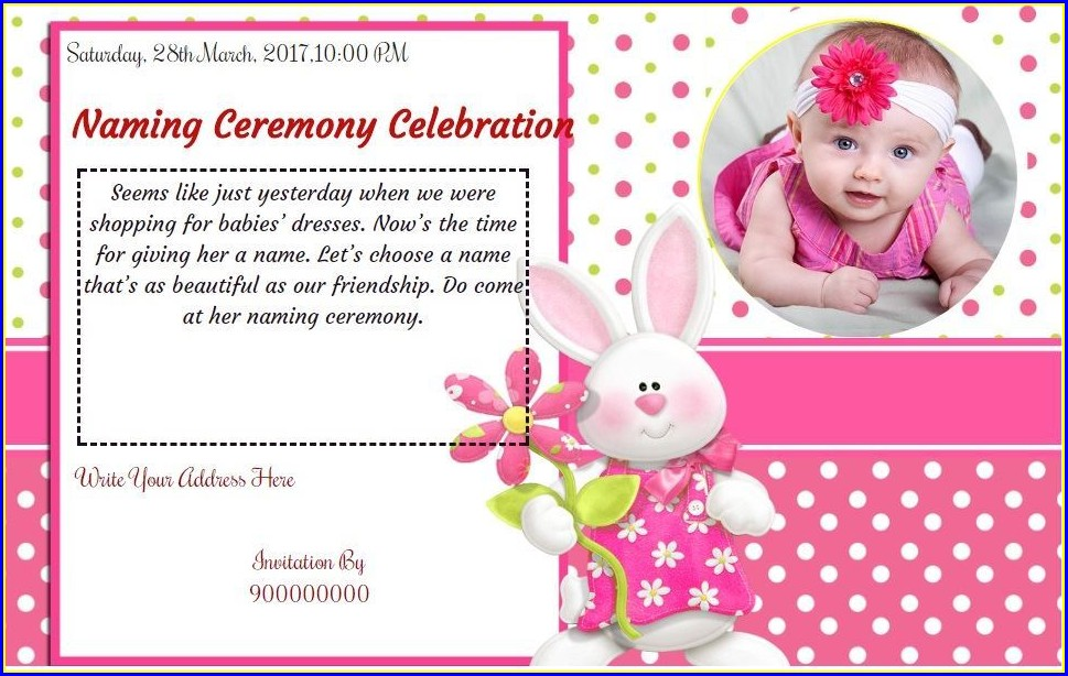 Baby Naming Ceremony Invitation