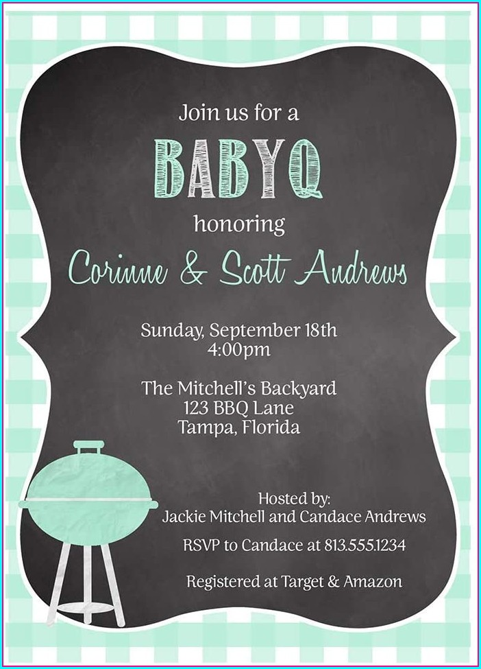 Baby Q Invitations Boy