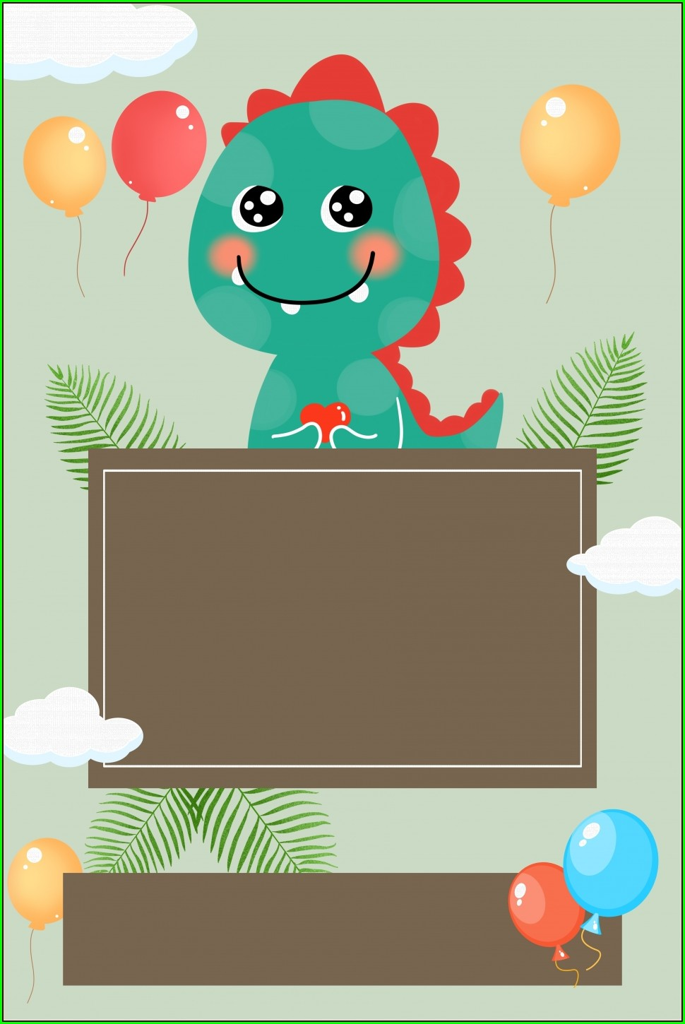 Background Birthday Invitation Card Template
