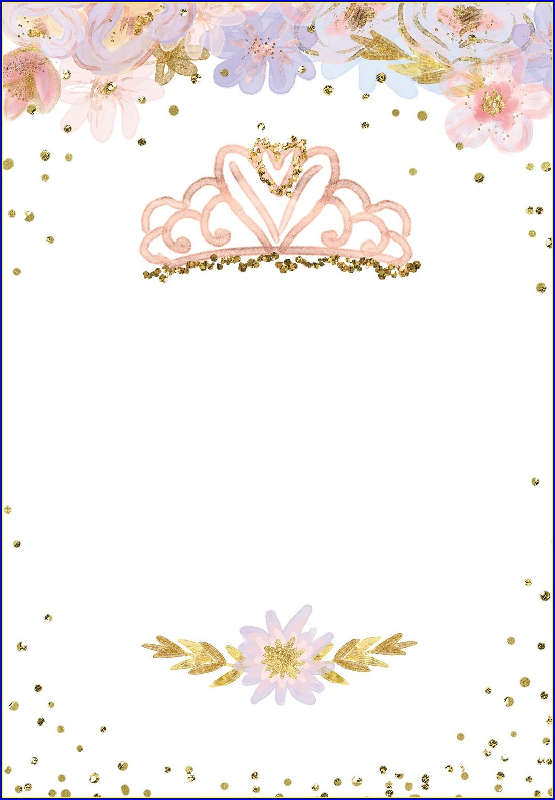 Background Blank Princess Invitation Template