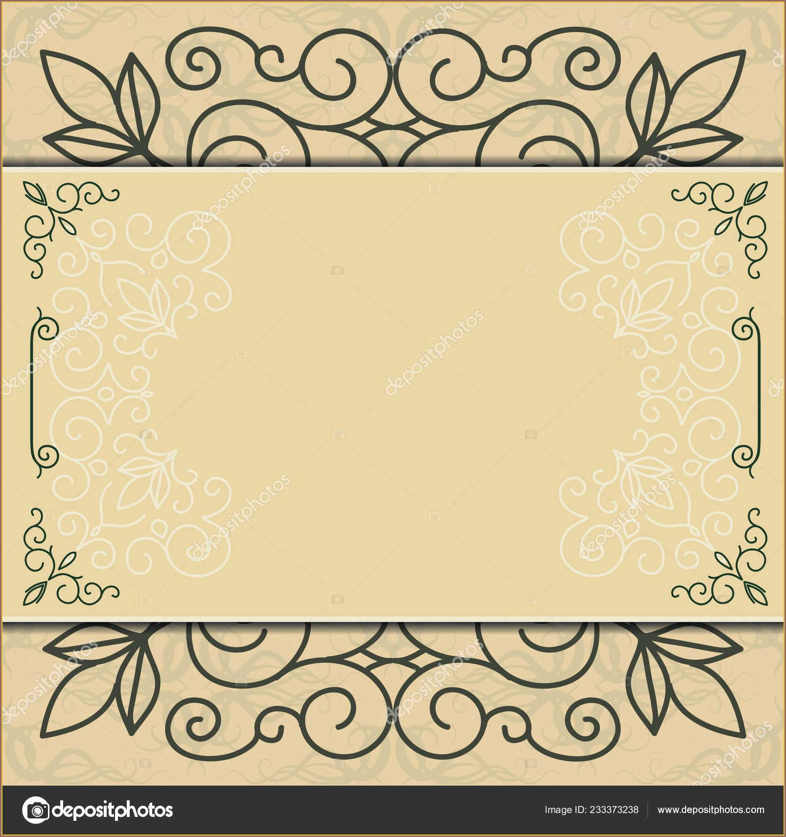 Background Invitation Card Frame Design
