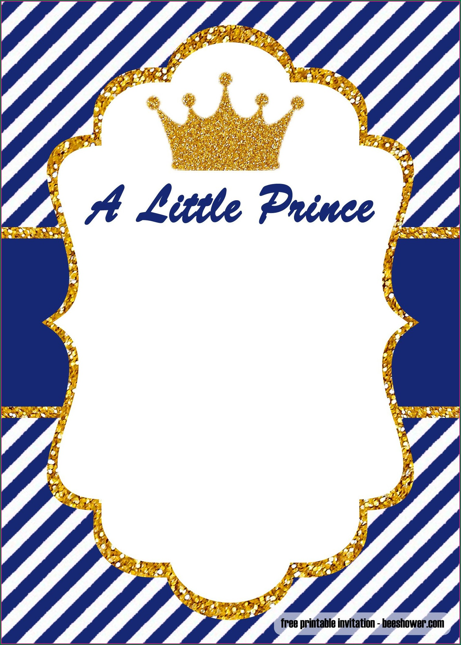 Background Royal Prince Birthday Invitation